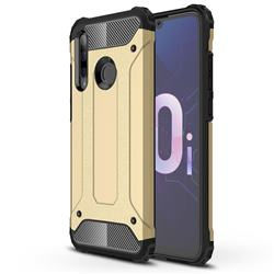 King Kong Armor Premium Shockproof Dual Layer Rugged Hard Cover for Huawei Honor 10i - Champagne Gold