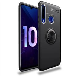 Auto Focus Invisible Ring Holder Soft Phone Case for Huawei Honor 10i - Black