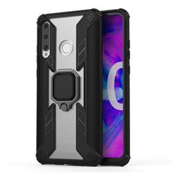 Predator Armor Metal Ring Grip Shockproof Dual Layer Rugged Hard Cover for Huawei Honor 10i - Black