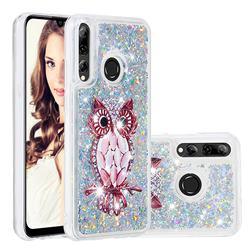 Seashell Owl Dynamic Liquid Glitter Quicksand Soft TPU Case for Huawei Honor 10i