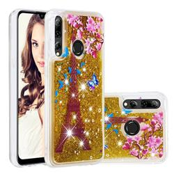 Golden Tower Dynamic Liquid Glitter Quicksand Soft TPU Case for Huawei Honor 10i