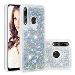 Dynamic Liquid Glitter Quicksand Sequins TPU Phone Case for Huawei Honor 10i - Silver
