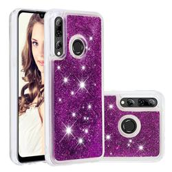 Dynamic Liquid Glitter Quicksand Sequins TPU Phone Case for Huawei Honor 10i - Purple