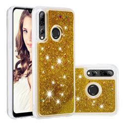 Dynamic Liquid Glitter Quicksand Sequins TPU Phone Case for Huawei Honor 10i - Golden