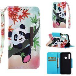 Bamboo Panda Big Metal Buckle PU Leather Wallet Phone Case for Huawei Honor 10i