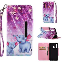 Fireworks Jumbo Big Metal Buckle PU Leather Wallet Phone Case for Huawei Honor 10i