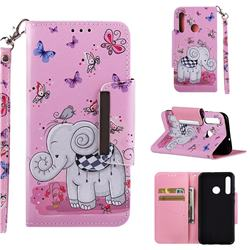 Butterfly Jumbo Big Metal Buckle PU Leather Wallet Phone Case for Huawei Honor 10i