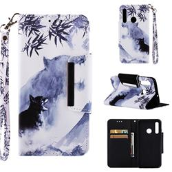 Target Tiger Big Metal Buckle PU Leather Wallet Phone Case for Huawei Honor 10i