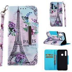 Fresh Tower Big Metal Buckle PU Leather Wallet Phone Case for Huawei Honor 10i