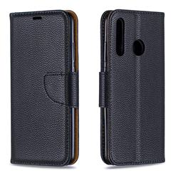 Classic Luxury Litchi Leather Phone Wallet Case for Huawei Honor 10i - Black