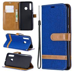 Jeans Cowboy Denim Leather Wallet Case for Huawei Honor 10i - Sapphire