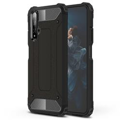 King Kong Armor Premium Shockproof Dual Layer Rugged Hard Cover for Huawei Honor 20 - Black Gold