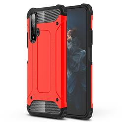 King Kong Armor Premium Shockproof Dual Layer Rugged Hard Cover for Huawei Honor 20 - Big Red