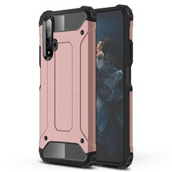 King Kong Armor Premium Shockproof Dual Layer Rugged Hard Cover for Huawei Honor 20 - Rose Gold