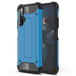 King Kong Armor Premium Shockproof Dual Layer Rugged Hard Cover for Huawei Honor 20 - Sky Blue