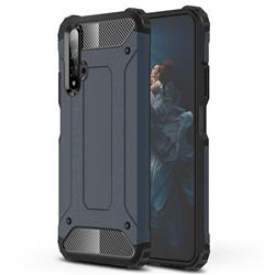 King Kong Armor Premium Shockproof Dual Layer Rugged Hard Cover for Huawei Honor 20 - Navy