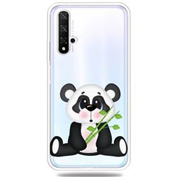 Bamboo Panda Clear Varnish Soft Phone Back Cover for Huawei Honor 20