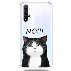 Cat Say No Clear Varnish Soft Phone Back Cover for Huawei Honor 20