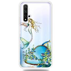 Mermaid Clear Varnish Soft Phone Back Cover for Huawei Honor 20