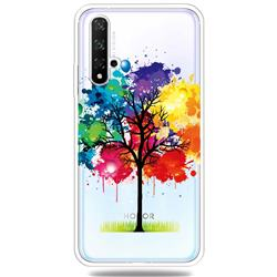 Oil Painting Tree Clear Varnish Soft Phone Back Cover for Huawei Honor 20