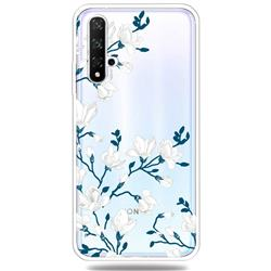 Magnolia Flower Clear Varnish Soft Phone Back Cover for Huawei Honor 20