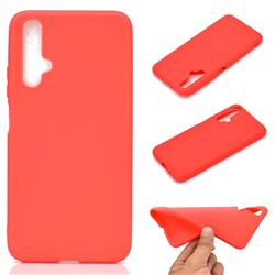 Candy Soft TPU Back Cover for Huawei Honor 20 - Red