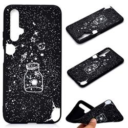Travel The Universe Chalk Drawing Matte Black TPU Phone Cover for Huawei Honor 20