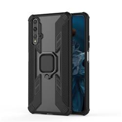 Predator Armor Metal Ring Grip Shockproof Dual Layer Rugged Hard Cover for Huawei Honor 20 - Black