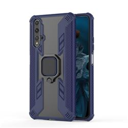 Predator Armor Metal Ring Grip Shockproof Dual Layer Rugged Hard Cover for Huawei Honor 20 - Blue