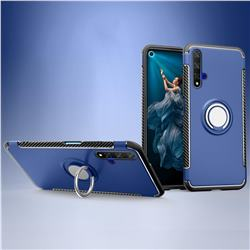 Armor Anti Drop Carbon PC + Silicon Invisible Ring Holder Phone Case for Huawei Honor 20 - Sapphire