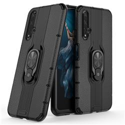 Alita Battle Angel Armor Metal Ring Grip Shockproof Dual Layer Rugged Hard Cover for Huawei Honor 20 - Black