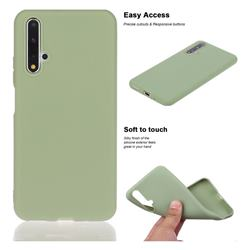 Soft Matte Silicone Phone Cover for Huawei Honor 20 - Bean Green