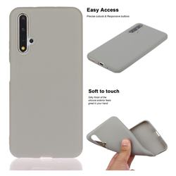 Soft Matte Silicone Phone Cover for Huawei Honor 20 - Gray