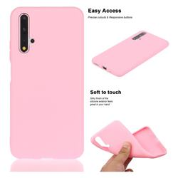 Soft Matte Silicone Phone Cover for Huawei Honor 20 - Rose Red