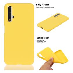 Soft Matte Silicone Phone Cover for Huawei Honor 20 - Yellow