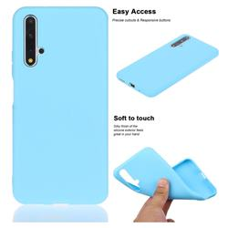 Soft Matte Silicone Phone Cover for Huawei Honor 20 - Sky Blue
