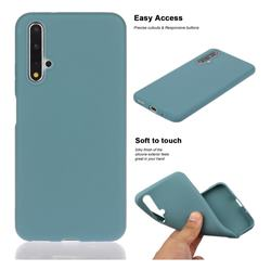 Soft Matte Silicone Phone Cover for Huawei Honor 20 - Lake Blue
