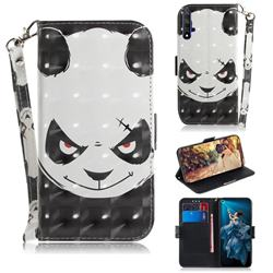 Angry Bear 3D Painted Leather Wallet Phone Case for Huawei Honor 20