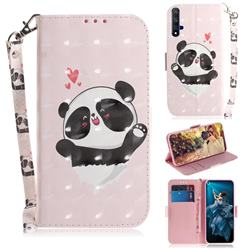 Heart Cat 3D Painted Leather Wallet Phone Case for Huawei Honor 20