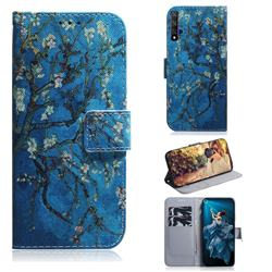 Apricot Tree PU Leather Wallet Case for Huawei Honor 20