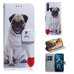 Pug Dog PU Leather Wallet Case for Huawei Honor 20