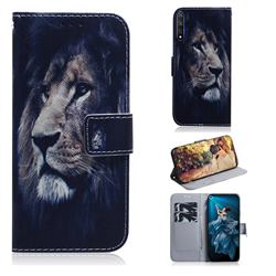 Lion Face PU Leather Wallet Case for Huawei Honor 20