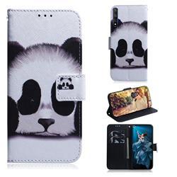 Sleeping Panda PU Leather Wallet Case for Huawei Honor 20