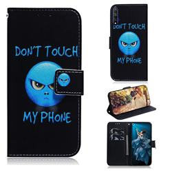 Not Touch My Phone PU Leather Wallet Case for Huawei Honor 20