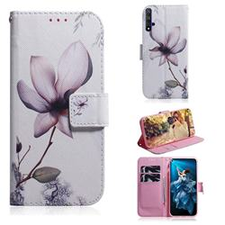 Magnolia Flower PU Leather Wallet Case for Huawei Honor 20
