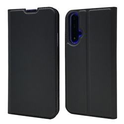 Ultra Slim Card Magnetic Automatic Suction Leather Wallet Case for Huawei Honor 20 - Star Grey
