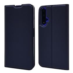 Ultra Slim Card Magnetic Automatic Suction Leather Wallet Case for Huawei Honor 20 - Royal Blue