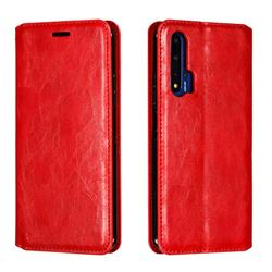 Retro Slim Magnetic Crazy Horse PU Leather Wallet Case for Huawei Honor 20 - Red