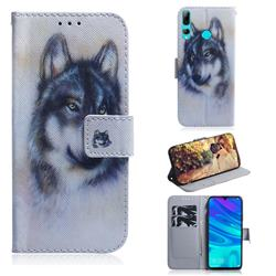 Snow Wolf PU Leather Wallet Case for Huawei Honor 20 Lite