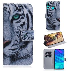 White Tiger PU Leather Wallet Case for Huawei Honor 20 Lite